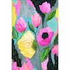 Marmont Hill 'Bold Flowers' by Jill Lambert Art Print Wrapped on Canvas