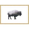 """Marmont Hill """"Bison Forest"""" by Amanda Greenwood Framed Graphic Art"""