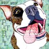 Marmont Hill 'Pitbull Pop' by Stephanie Gerace Graphic Art Wrapped on Canvas