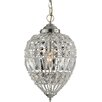 Impex Lighting 1 Light Crystal Pendant