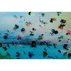 Parvez Taj Beach at Dusk Graphic Art Wrapped on Canvas