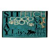 Manual Woodworkers & Weavers Dog Commands Teal Area Rug