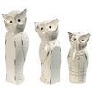 One Allium Way Lorna Owl Family Decor 3 Piece Statue Set
