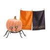 TAG 3 Piece Halloween Dishtowel and Pumpkin Stand Set