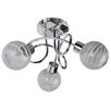 First Choice Lighting 3 Light Semi Flush Ceiling Light