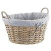 Old Basket Supply Ltd Lined Oval Rattan Basket