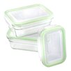 Glasslock 3 Piece Oven Glass Food Container Set