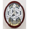 Rhythm U.S.A Inc Magic Motion Woodgrain Marvelous Wall Clock
