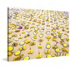 Marmont Hill 'Yellow Umbrellas' Photographic Print on Wrapped Canvas