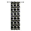 Zephyr&Co Graphic Blackout Single Curtain Panel