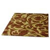 Rugstack Picasso Brown/Green Area Rug