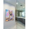 "Marmont Hill ""French Bulldog Puppy"" by George Dyachenko Painting Print on Wrapped Canvas"