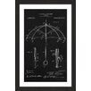Marmont Hill 'Umbrella 1912 Black Paper' by Steve King Framed Graphic Art