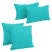 Blazing Needles Blazing Needles Soft Home Furnishings 4 Piece Outdoor Throw Pillows Set