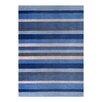 Metro Lane Paris Hand-Woven Wool Blue Rug