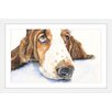 """Marmont Hill """"Basset 4"""" by George Dyachenko Framed Painting Print"""