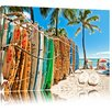 Pixxprint Surfboards on the Beach Photographic Print on Canvas