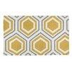 Castleton Home Finn Hand-Woven Yellow/White Area Rug