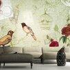 Artgeist Vintage Birds 2.1m x 300cm Wallpaper
