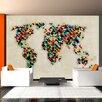 Artgeist World Map - A Kaleidoscope of Colours 2.31m x 300cm Wallpaper
