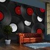 Artgeist Retro Style: Records 270cm x 350cm Wallpaper