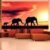 Artgeist Elephants Families 3.09m x 400cm Wallpaper