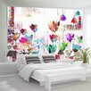 Artgeist Colourful Tulips 2.45m x 350cm Wallpaper