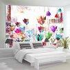 Artgeist Colourful Tulips 2.80m x 400cm Wallpaper