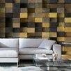 Artgeist Wooden Cubes 2.45m x 350cm Wallpaper