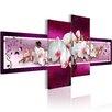 Artgeist Romantic Orchids 4 Piece Graphic Art Print Set on Canvas