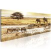 Artgeist Africa At the Waterhole Photographic Print on Canvas