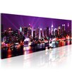 Artgeist Purple Sky over New York Graphic Art Print on Canvas