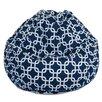 Brayden Studio Danko Geometric Bean Bag Chair