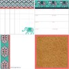 Wallpops! 4 Piece Indra Organisation Dry Erase Wall Sticker Set