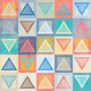 Marmont Hill Chalk Triangles Graphic Art Wrapped on Canvas