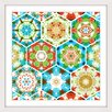 Marmont Hill Paisley Hexagons Framed Graphic Art