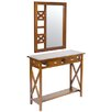 Hazelwood Home Console Table with Mirror (Set of 2)