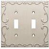 Franklin Brass Classic Lace Double Switch Wall Plate