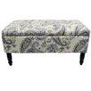 House Additions Hocker Flowers mit Stauraum