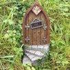 Castleton Home Fairy Curved Step Metalwork Wood Decorative Garden Door Statue