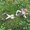 Castleton Home 2 Piece Pixie Boy Body Outdoor Decorative Garden Statue Set