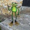 Castleton Home Animal Standing Metal Frog Garden Statue