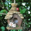 Castleton Home Thatched Roof Hanging Bird House
