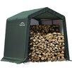 ShelterLogic 244 cm x 244 cm Geräteschuppen aus Kunststoff