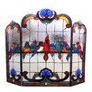 Chloe Lighting Aves 3 Panel Glass Fireplace Screen