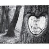 JDS Personalized Gifts Personalized Gift Tree of Love Photo Graphic Print on Canvas