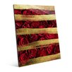 Click Wall Art Red Roses and Stripes Graphic Art