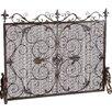 Home Loft Concepts Laurentia Panel Iron Fireplace Screen
