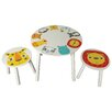 Kidsaw Children's 3 Piece Round Table and Chair Set