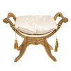 Derry's Upholstered Decorative Stool with Tassels